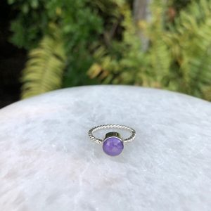 Charoite Ring No. R-6161 Sterling Silver