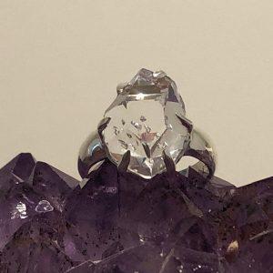 Herkimer Diamond Ring No. R-6702 Sterling Silver