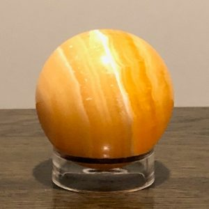 Orange Calcite Sphere Large with Stand