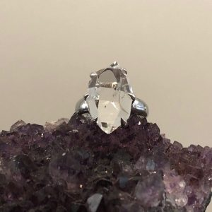 Herkimer Diamond Ring No. R-6897 Sterling Silver