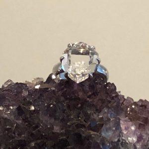 Herkimer Diamond Ring No. R-9604 Sterling Silver